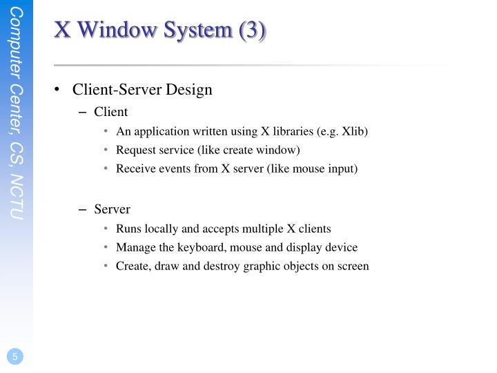 X Window System (3)