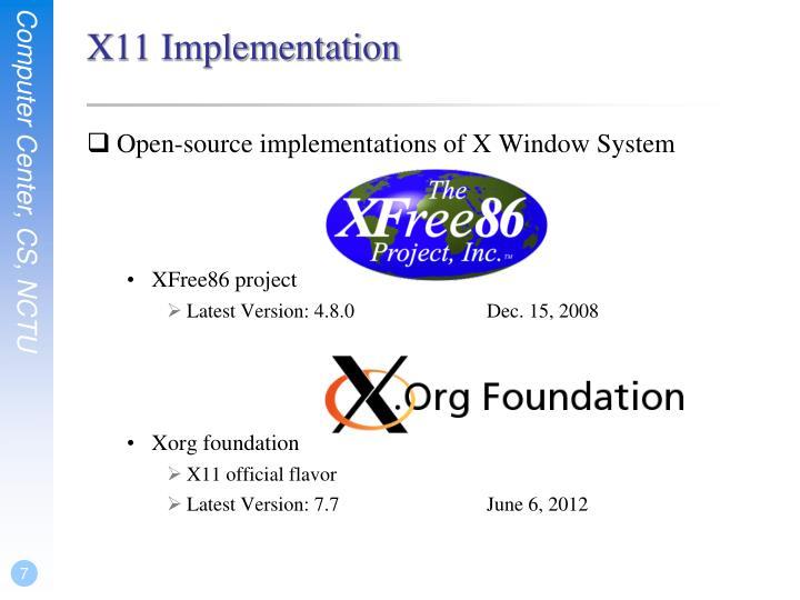 X11 Implementation