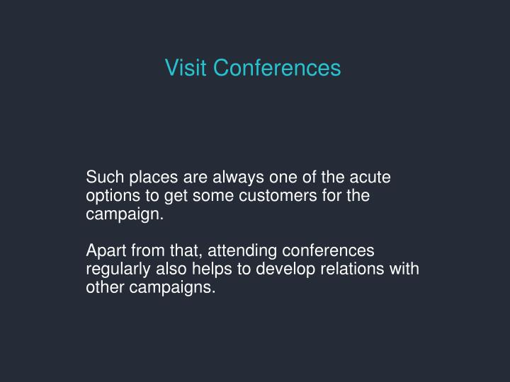 Visit Conferences