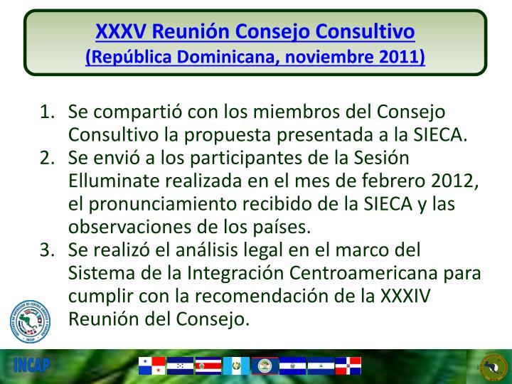 XXXV Reunión Consejo Consultivo