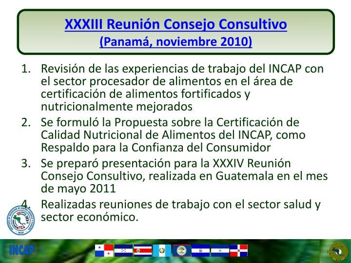 XXXIII Reunión Consejo Consultivo