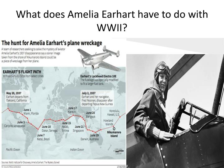 What does Amelia Earhart have to do with WWII?