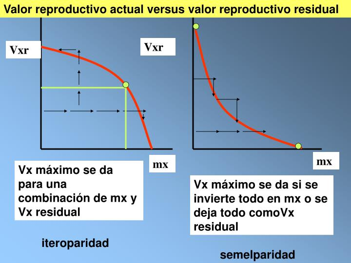 Valor reproductivo actual versus valor reproductivo residual