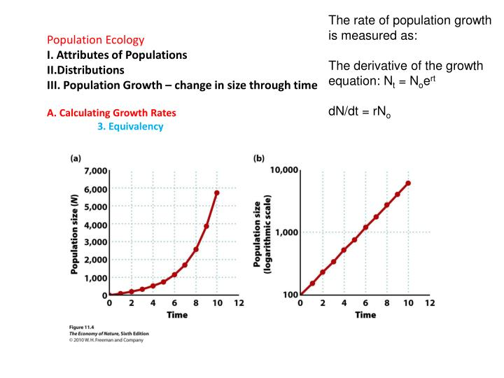 The rate of population growth is measured as: