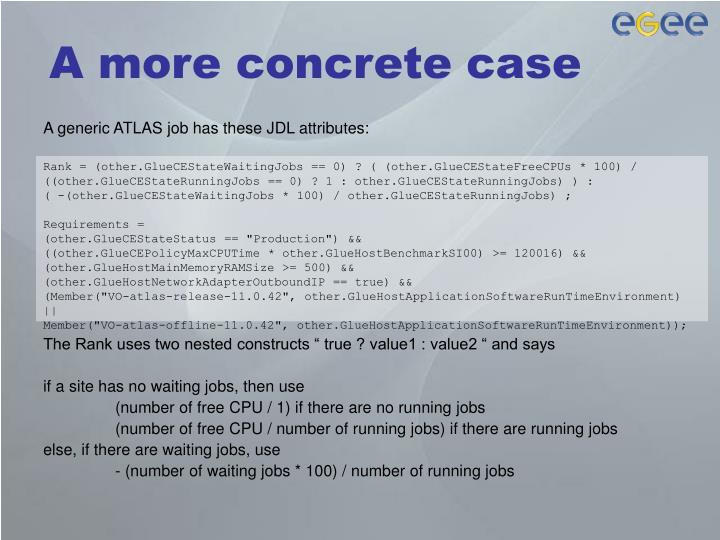 A more concrete case