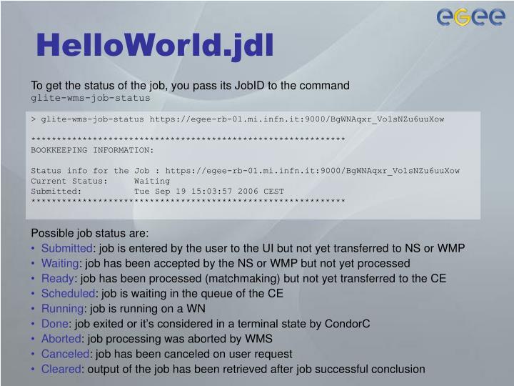 HelloWorld.jdl