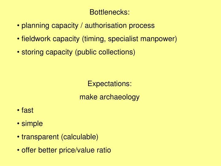 Bottlenecks: