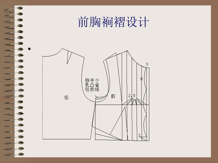 前胸裥褶设计