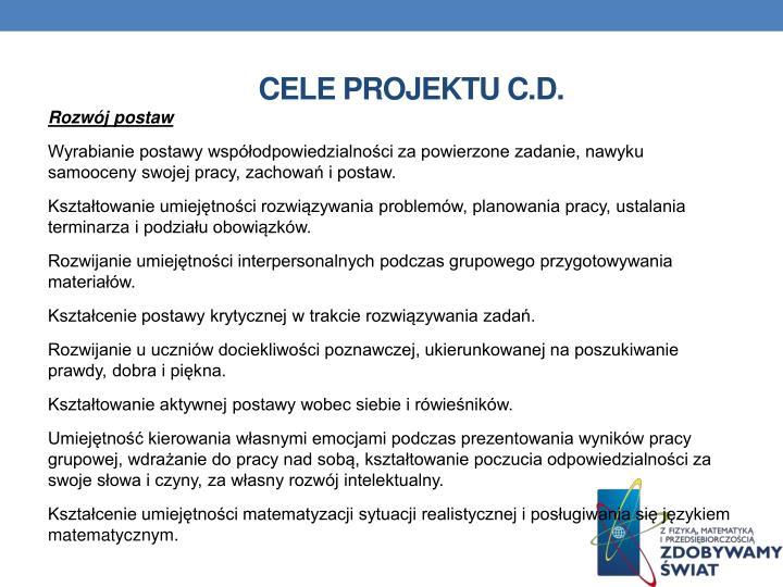 Cele projektu c.d.