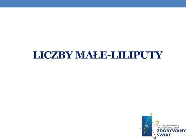 Liczby małe-liliputy