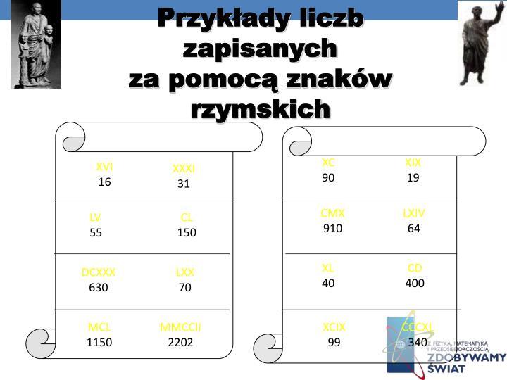 Przykłady liczb