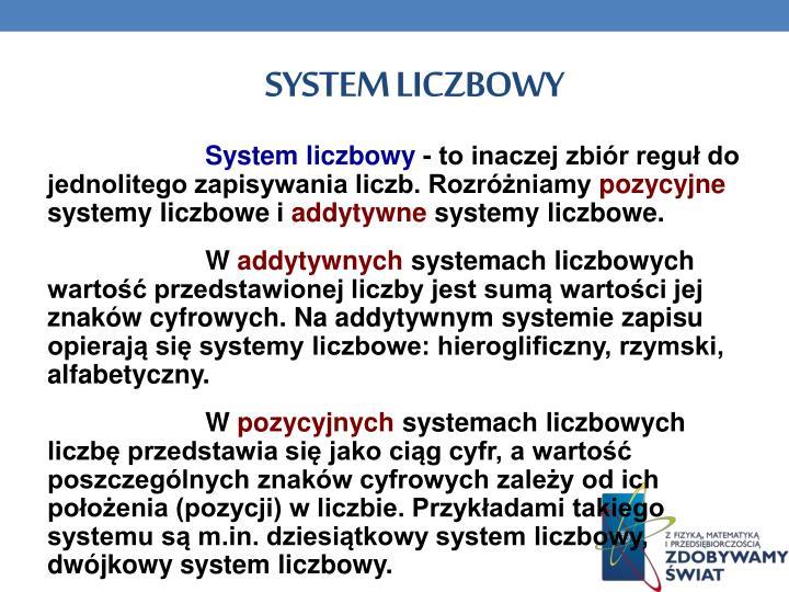 System liczbowy