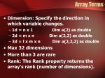 array terms1