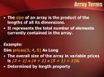 array terms5
