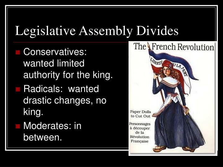 Legislative Assembly Divides