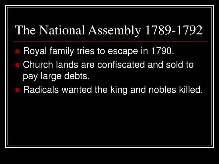The National Assembly 1789-1792