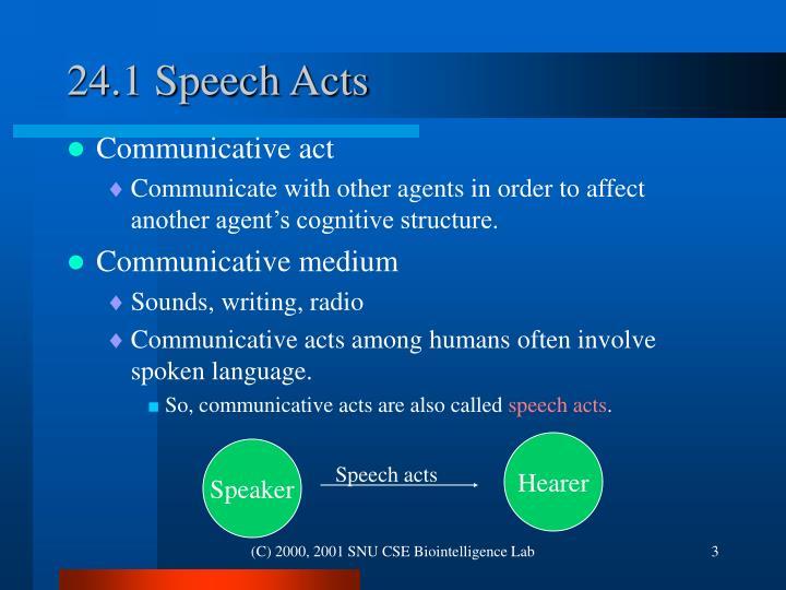 24.1 Speech Acts