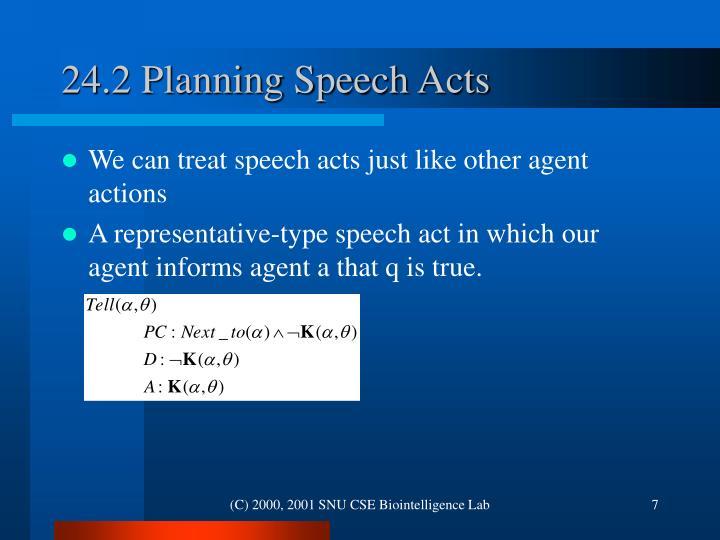 24.2 Planning Speech Acts