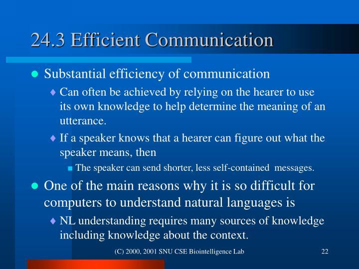 24.3 Efficient Communication