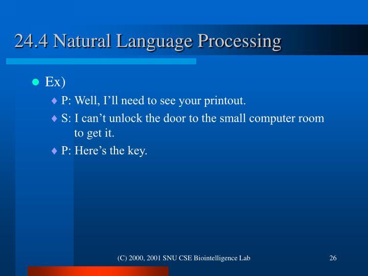 24.4 Natural Language Processing
