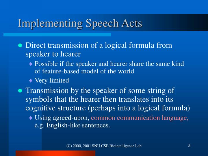 Implementing Speech Acts