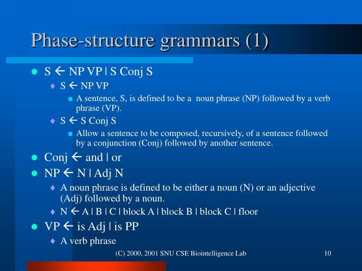 Phase-structure grammars (1)