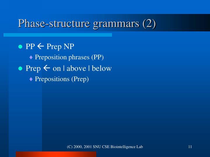 Phase-structure grammars (2)