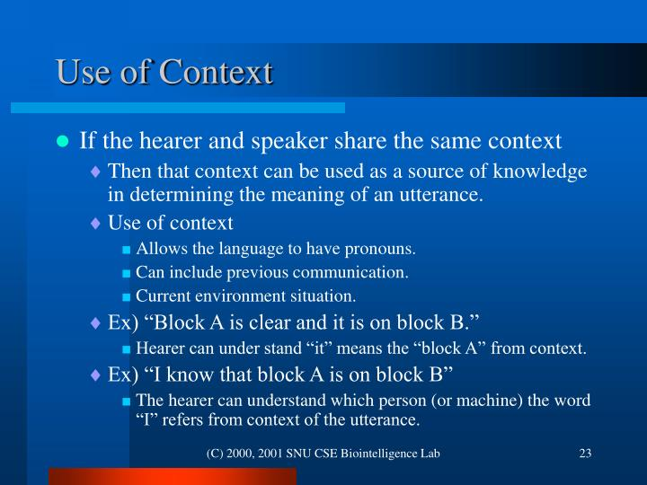 Use of Context