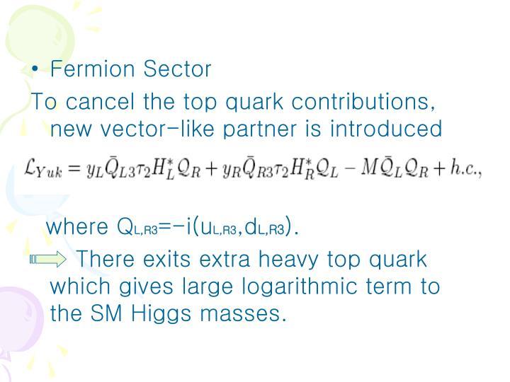 Fermion Sector