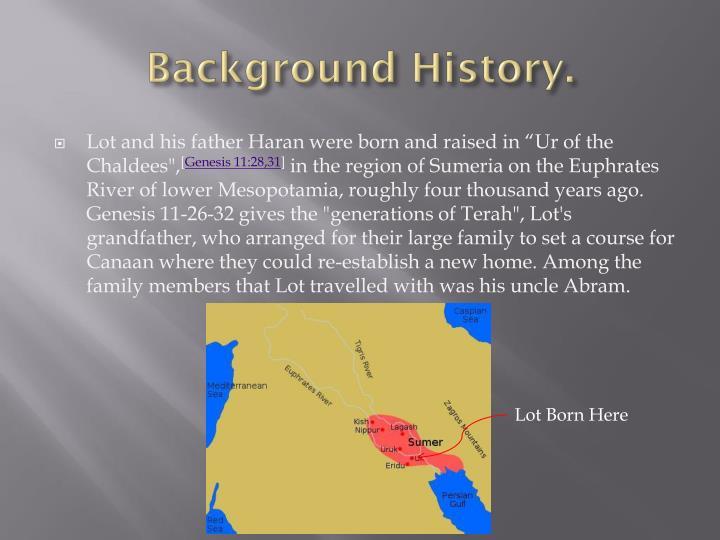 Background History.