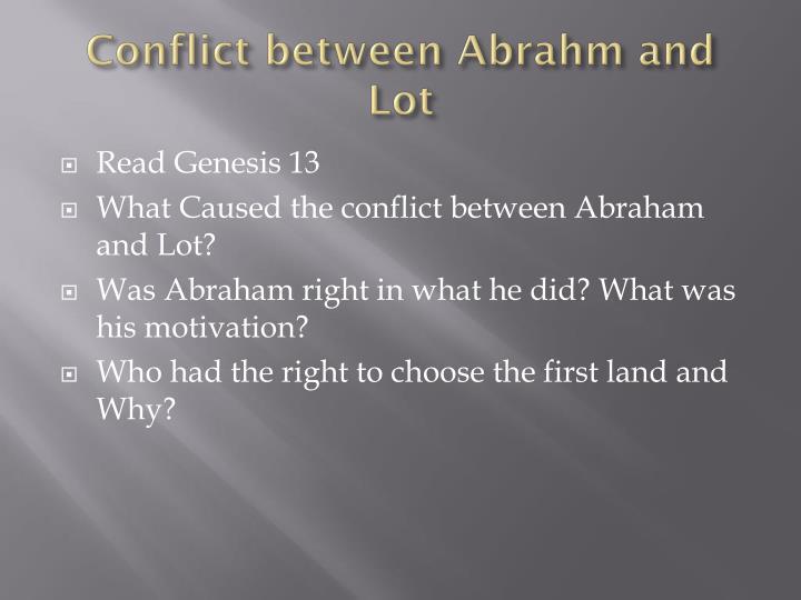 Conflict between