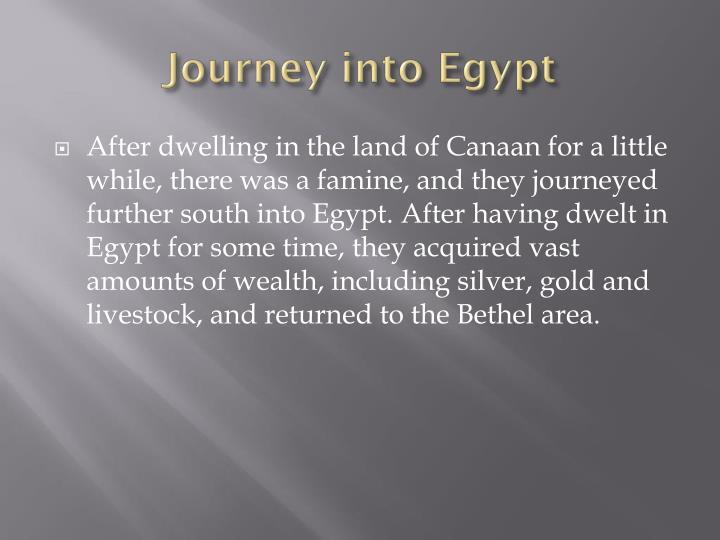Journey into Egypt