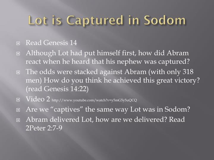 Lot is Captured in Sodom