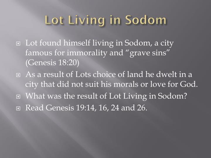 Lot Living in Sodom