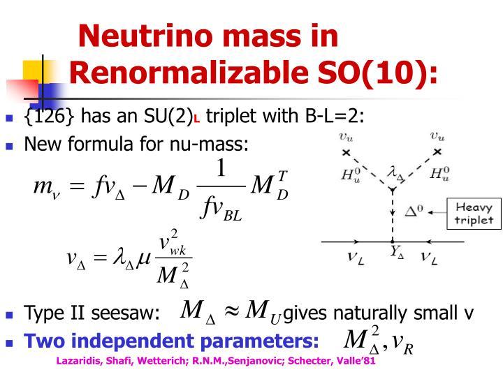 Neutrino mass in Renormalizable SO(10):