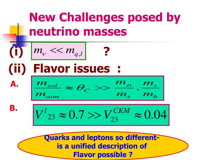 New Challenges posed by neutrino masses