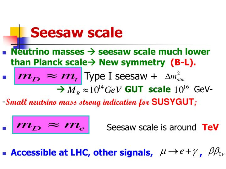 Seesaw scale
