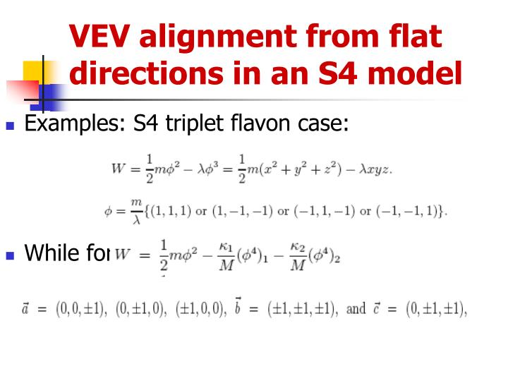 VEV alignment from flat directions in an S4 model