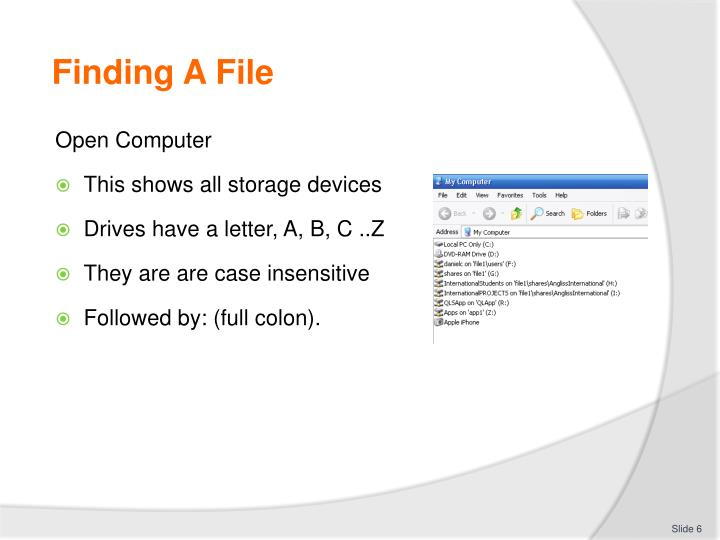 Finding A File