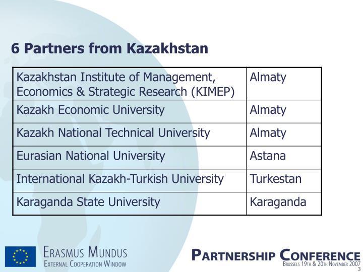 6 Partners from Kazakhstan