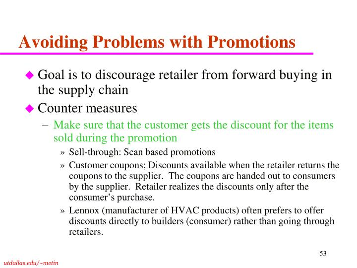 Avoiding Problems with Promotions
