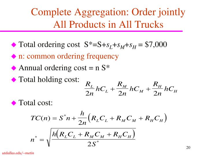 Complete Aggregation: Order jointly