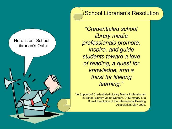 School Librarian's Resolution