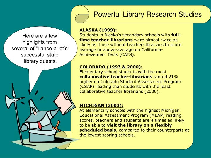 Powerful Library Research Studies