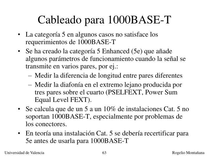 Cableado para 1000BASE-T