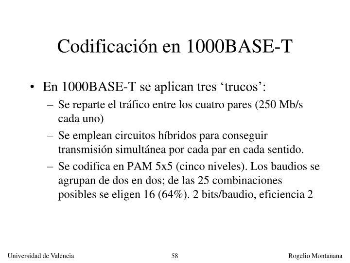 Codificación en 1000BASE-T