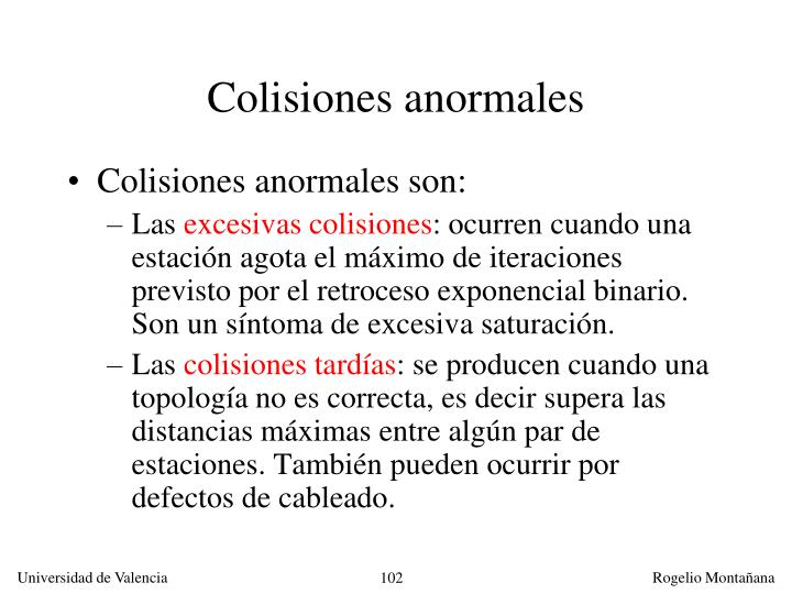 Colisiones anormales