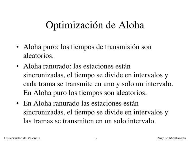 Optimización de Aloha