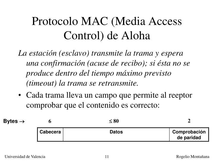 Protocolo MAC (Media Access Control) de Aloha