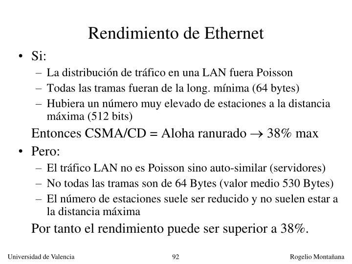 Rendimiento de Ethernet